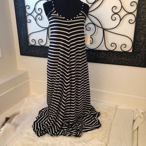 Anthropologie puella Striped Maxi Dress